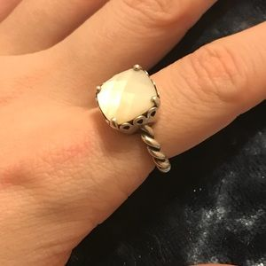 "Genuine Pandora ""Mother of Pearl"" Ring size 6"